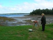 Larry painting @ Salisbury Covet 8-5-8
